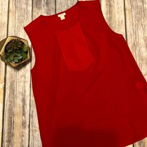 J.CREW FACTORY Red Sleeveless Size 6 Top